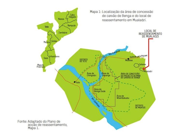 Mapa de Relatório da OXFAM