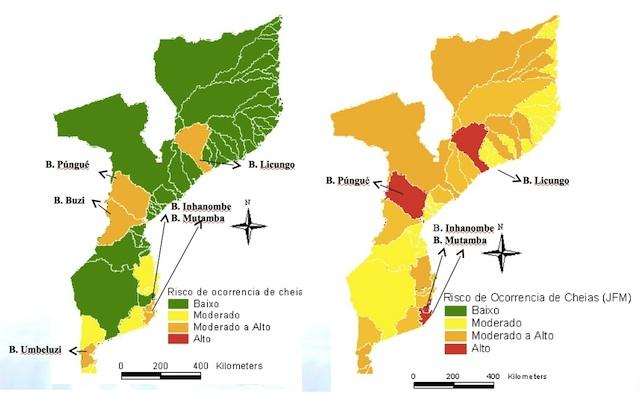 Mapas do  Instituto Nacional de Meteorologia