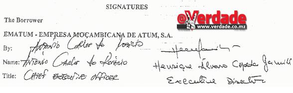 Contrato de Financiamento EMATUM